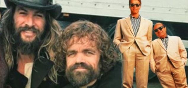 A Jason Momoa le gustaría protagonizar una nueva versión de ''Gemelos''... ¡junto a Peter Dinklage!