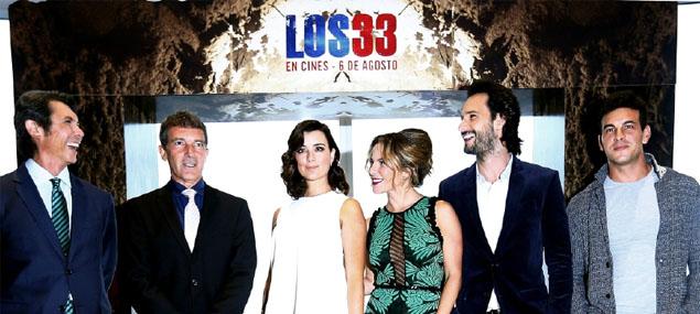 Antonio Banderas en el estreno de ''Los 33''