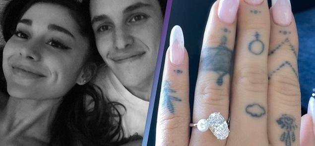 Ariana Grande se comprometió con Dalton Gomez