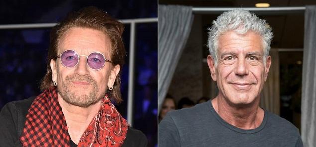 Bono conmemora a Anthony Bourdain