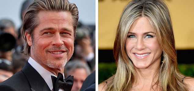 Brad Pitt y Jennifer Aniston juntos