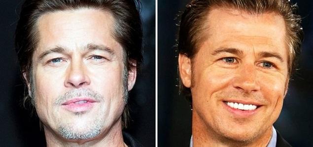 Brad Pitt y su hermano empresario Doug: dos gotas de agua