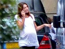 Carla Bruni, a poco de convertirse en mamá.