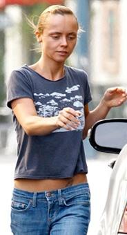 Christina Ricci, más delgada que nunca.