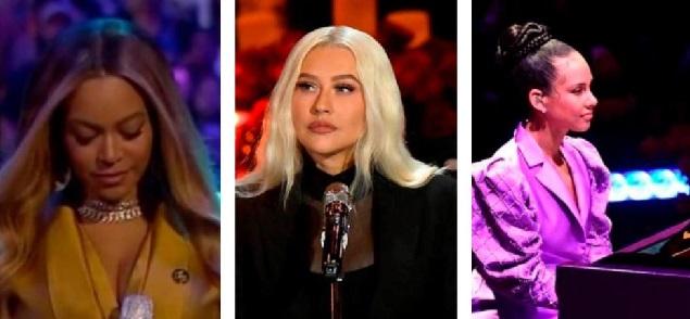 De Christina Aguilera a Beyoncé, los VIP rinden homenaje a Kobe Bryant