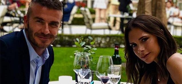 El aniversario de David y Victoria Beckam