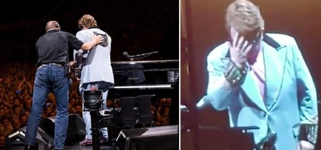 Elton John interrumpe un concierto: ''Tengo neumonía''