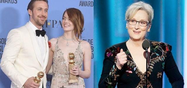 Globos de Oro 2017, espectacular triunfo de ''La La Land''