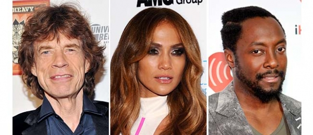 Jennifer Lopez y Mick Jagger  juntos