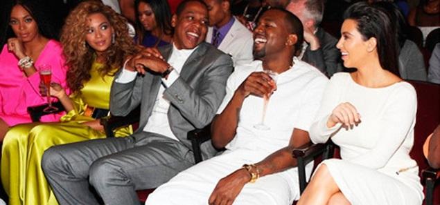 Kanye West y Kim Kardashian hicieron las paces con Beyoncé y Jay-Z