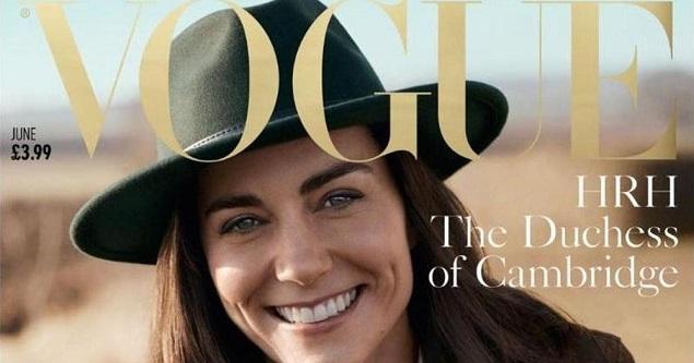 Kate Middleton en la portada por los 100 años de Vogue