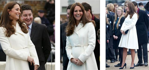 Kate Middleton muestra su ''pancita''
