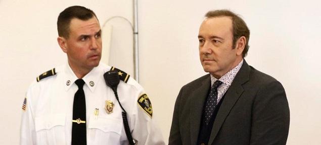 Kevin Spacey en el tribunal de Nantucket, se enfrenta a 5 años de prisión