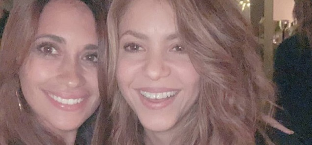 La selfie de Antonella Roccuzzo y Shakira