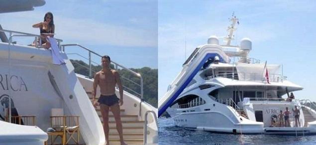Las vacaciones de lujo de Ronaldo