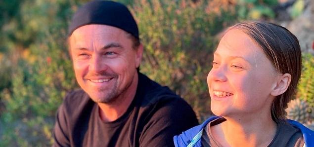 Leo DiCaprio con Greta Thunberg: ''Espero que su mensaje despierte a los grandes de la tierra''