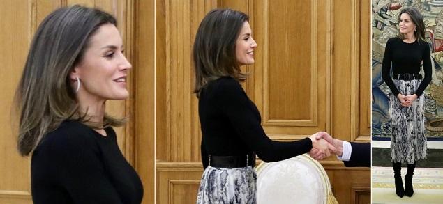 Letizia Ortiz sorprende con una falda de Zara