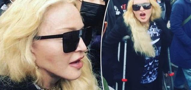 Madonna acudió a una protesta contra el racismo en Londres