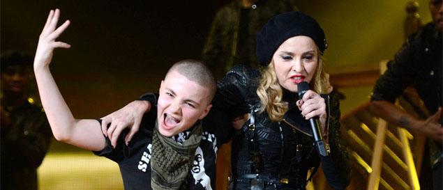Madonna envía un mensaje de augurios a su hijo