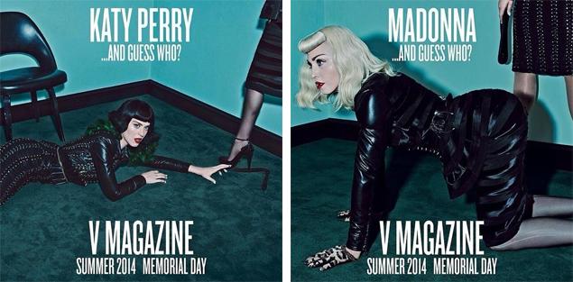 Madonna y Katy Perry en una sesión hot
