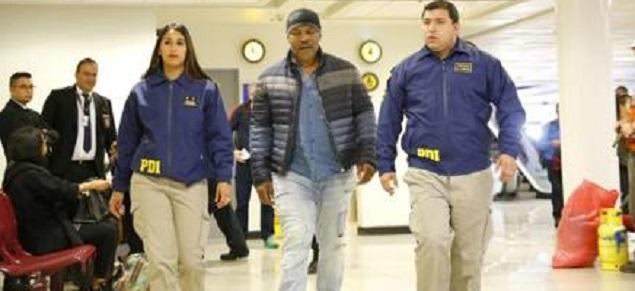 Mike Tyson llegó a Chile y fue enviado de regreso