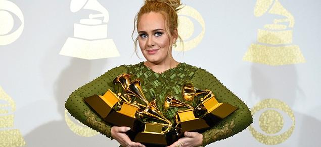 Premios Grammy: Adele la reina de la noche