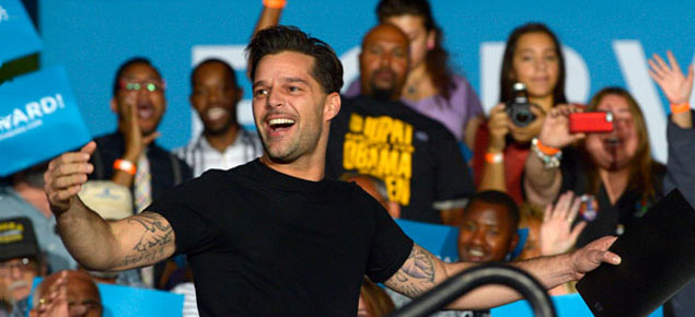 Ricky Martin, otro famoso que apoyó a Obama