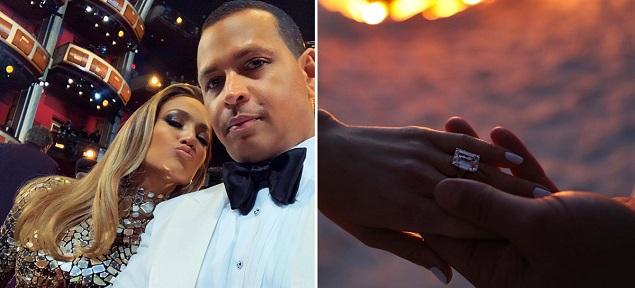 Se comprometieron Jennifer Lopez y Alex Rodriguez