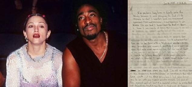 Se subastará una carta de Tupac a Madonna