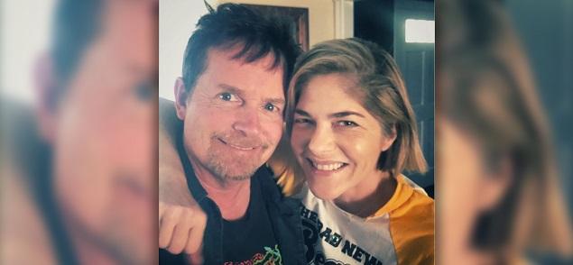 Selma Blair y Michael J. Fox, una selfie para luchar contra la enfermedad