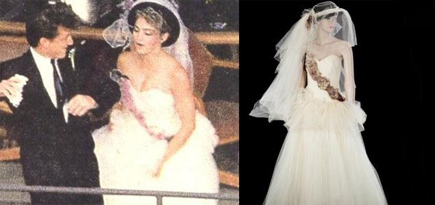 Subastaron el vestido de novia de Madonna