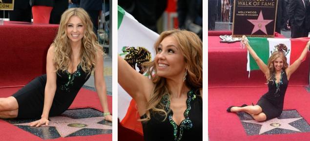 Thalía, orgullosa de su estrella en el Paseo de la Fama