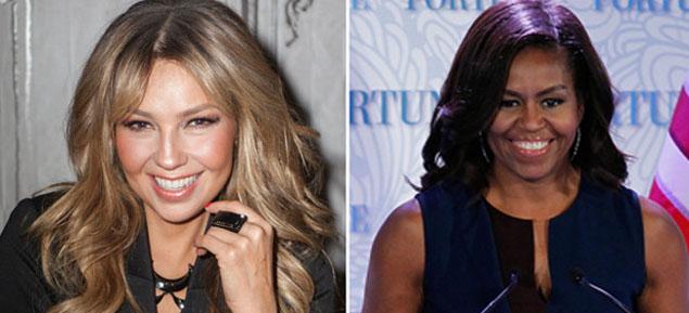 Thalía quiere vestir a Michelle Obama