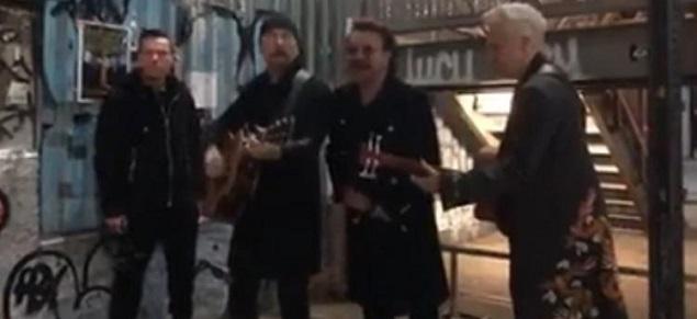 U2, Songs of experience: lanzamiento sorpresa en vivo en las calles de Nueva York