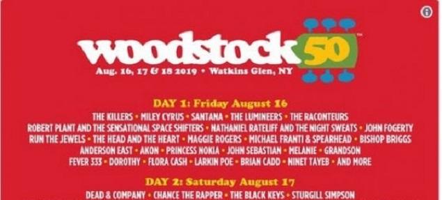 Woodstock 50 con estrellas de ayer y hoy