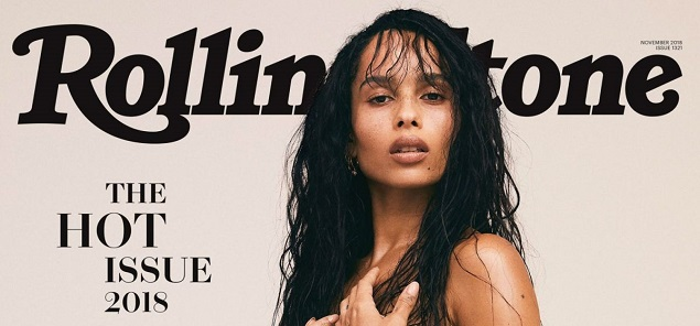 Zoe Kravitz posa desnuda para Rolling Stone